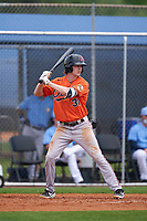 Baltimore Orioles Mason Janvrin (31) bats during a Minor League Spring Training game against the Tampa Bay Rays on April 23, 2021 at Charlotte Sports Park in Port Charlotte, Florida.  (Mike Janes/Four Seam Images)