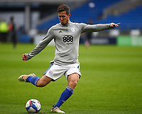 26th December 2020; Cardiff City Stadium, Cardiff, Glamorgan, Wales; English Football League Championship Football, Cardiff City versus Brentford; Will Vaulks of Cardiff City shoots during warm up