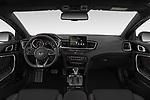 Stock photo of straight dashboard view of 2019 KIA Proceed GT 5 Door Wagon Dashboard
