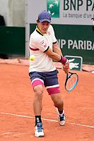 27th September 2020, Roland Garros, Paris, France; French Open tennis, Roland Garros 2020; Kei Nishikori (jpn)