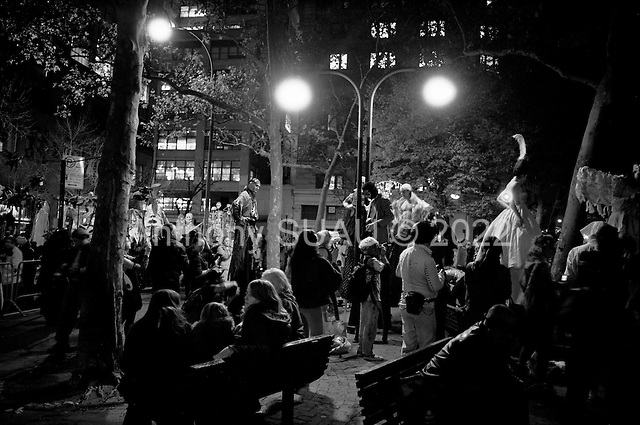 New York, New York.USA.October 31, 2006..Halloween parade in New York city.