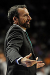 Unicaja´s coach Joan Plaza during 2014-15 Liga Endesa match between Real Madrid and Unicaja at Palacio de los Deportes stadium in Madrid, Spain. April 30, 2015. (ALTERPHOTOS/Luis Fernandez)