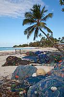 Nungwi, Zanzibar, Tanzania.  Fishnets on the Beach at Nungwi.