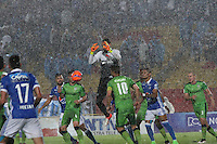 BOGOTA -COLOMBIA, 28-02-2017.Action game between Millonarios and Equidad during match  for the date 6 of the Aguila League I 2017 played at Nemesio Camacho El Campin stadium . Photo:VizzorImage / Felipe Caicedo  / Staff