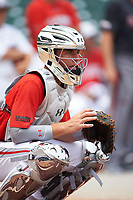 Hagen Danner (24) of Huntington Beach High School in Huntington Beach, California during practice before the Under Armour All-American Game presented by Baseball Factory on July 23, 2016 at Wrigley Field in Chicago, Illinois.  (Mike Janes/Four Seam Images)