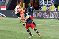 FOXBOROUGH, MA - OCTOBER 19: Matt Turner #30 of New England Revolution gathers the ball as Anthony Fontana #21 of Philadelphia Union collides with him during a game between Philadelphia Union and New England Revolution at Gillette on October 19, 2020 in Foxborough, Massachusetts.