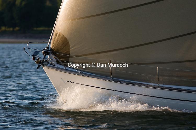 sailboat bow slicing the water
