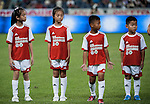 Chinese young fans of Bayern Munich in action during a friendly match against VfL Wolfsburg as part of the Audi Football Summit 2012 on July 26, 2012 at the Guangdong Olympic Sports Center in Guangzhou, China. Photo by Victor Fraile / The Power of Sport Images