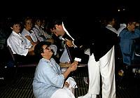 FILE -  Michel Louvain et une fan au Salon de la Femme 1985 tenu au Palais des congres<br /> .<br /> <br />  Photo : Pierre Roussel - Agence Quebec Presse