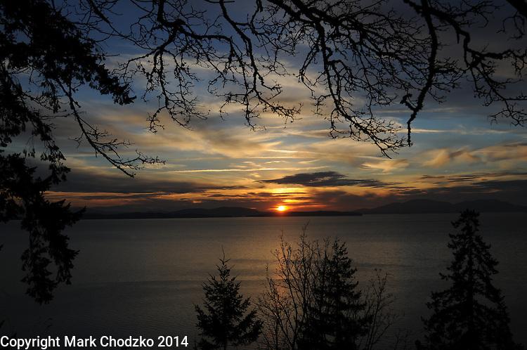 Sunset in Bellingham, Washington