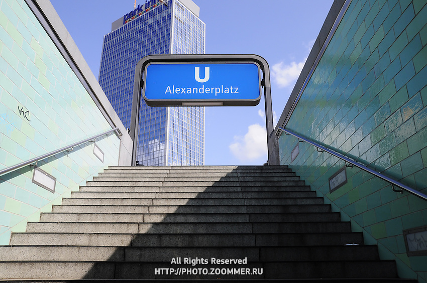 Berlin U-Bahn subway sign Alexanderplatz