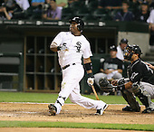 Juan Uribe of the Chicago White Sox vs. the Florida Marlins: June 19th, 2007 at Wrigley Field in Chicago, IL.  Photo copyright Mike Janes Photography 2007.