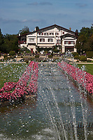Europe/France/Aquitaine/64/Pyrénées-Atlantiques/Pays-Basque/Cambo-les-Bains: Jardin à la française de la Villa Arnaga, Musée Edmond Rostand