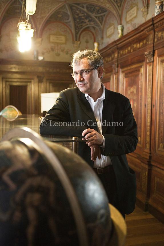 Milan, Italy, 2007. Orhan Pamuk, Turkish writer, Nobel Prize in Literature 2006 at the Bagatti Valsecchi Museum.