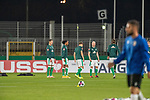12.09.2020, Ernst-Abbe-Sportfeld, Jena, GER, DFB-Pokal, 1. Runde, FC Carl Zeiss Jena vs SV Werder Bremen<br /> <br /> Die Spieler vom SV Werder Bremen bereiten sich auf das Pokalspiel vor<br /> David Philipp (Werder Bremen #31)<br /> Tahith Chong (Werder Bremen #22)<br /> Johannes Eggestein (Werder Bremen #24)<br /> Davy Klaassen (Werder Bremen #30)<br /> Niclas Füllkrug / Fuellkrug (Werder Bremen #11)<br /> <br /> <br /> Foto © nordphoto / Kokenge