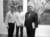 Montreal Mayor Denis Coderre attend Jacques Lamothe vernissage in Old-Montreal, August 19, 2015<br /> <br /> PHOTO : Pierre Roussel - Agence Quebec Presse