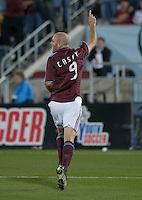 Colorado forward Conor Casey celebrates his goal. Real Salt Lake earned a tied versus the Colorado Rapids securing a place in the postseason. Dick's Sporting Goods Park, Denver, Colorado, October, 25, 2008. Photo by Trent Davol/isiphotos.com