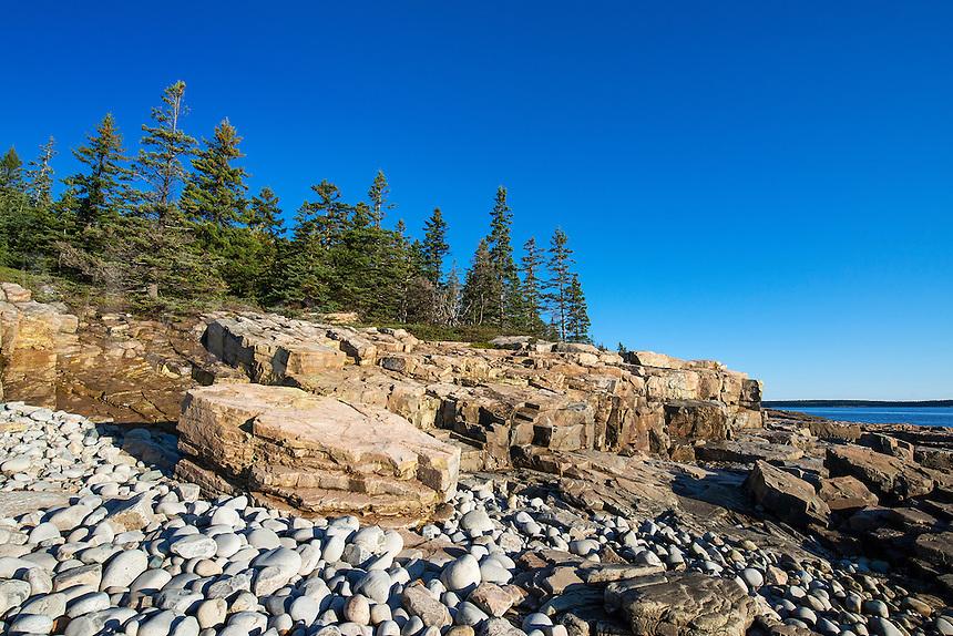 Coastal landscape, Schoodic Peninsula, Acadia National Park, Maine, USA