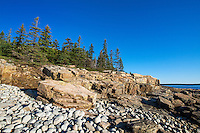 Coastal landscape, Schoodic Peninsula, Acadia National Park, Maine, USA