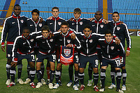 United States team group, during Pre Mundial Sub 20 game held at Guatemala.. 29 March 2011.