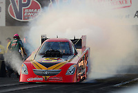 Oct. 5, 2012; Mohnton, PA, USA: NHRA funny car driver Jim Head during qualifying for the Auto Plus Nationals at Maple Grove Raceway. Mandatory Credit: Mark J. Rebilas-