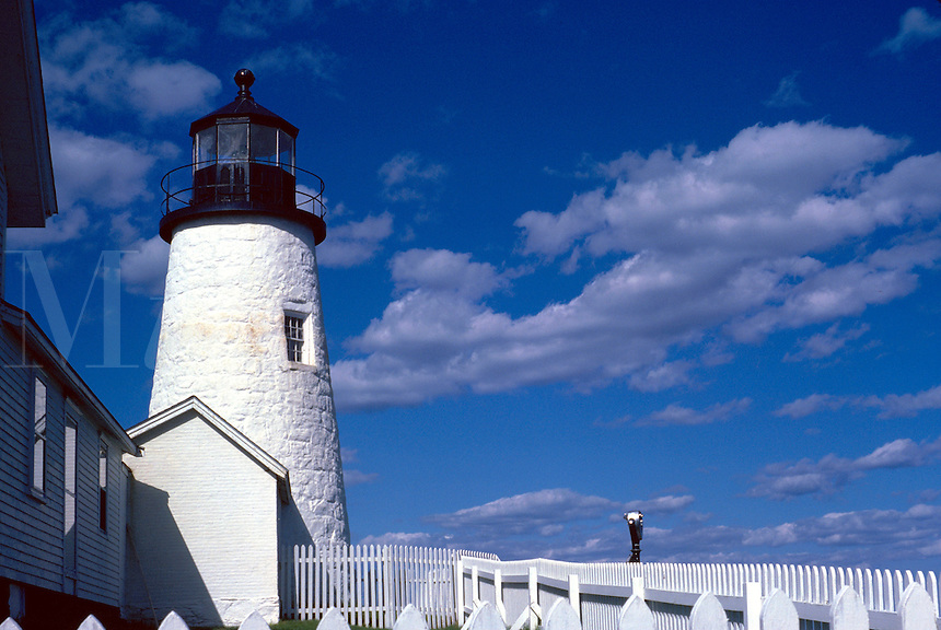 The Pemaquid Point Lighthouse. Pemaquid, Maine.