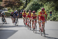 Team Wallonie-Bruxelles showing themselves in the finale<br /> <br /> Brussels Cycling Classic 2016
