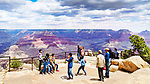 Tourists enjoy the South Rim, Grand Canyon National Park, Arizona, USA
