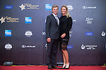 Suzann Pettersen and her boyfriend Christian walk the Natalie Gulbis and her husband Joshua walk the Red Carpet event at the World Celebrity Pro-Am 2016 Mission Hills China Golf Tournament on 20 October 2016, in Haikou, China. Photo by Marcio Machado / Power Sport Images