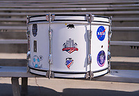 PASADENA, CA - AUGUST 3: A drum from the American Outlaws sits in the stands during a game between Ireland and USWNT at Rose Bowl on August 3, 2019 in Pasadena, California.