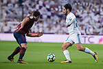"Real Madrid Francisco Roman ""Isco"" and Eibar Ander Capa during La Liga match between Real Madrid and Eibar at Santiago Bernabeu Stadium in Madrid, Spain. October 22, 2017. (ALTERPHOTOS/Borja B.Hojas)"