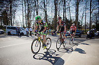breakaway group with Anthony Delaplace (FRA/Brétagne), Alex Kirsch (LUX/Cult) & Thomas De Gendt (BEL/Lotto-Soudal)<br /> <br /> 55th Brabantse Pijl 2015