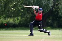 J Sorrell hits 4 runs for Hornchurch during Hornchurch CC vs Harold Wood CC, Hamro Foundation Essex League Cricket at Harrow Lodge Park on 5th June 2021