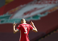 24th April 2021; Anfield, Liverpool, Merseyside, England; English Premier League Football, Liverpool versus Newcastle United; Fabinho of Liverpool prior to the kick off