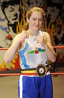 4x Belgisch Kampioen in Boxclub Lichtervelde..Delfine Persoon..foto David Catry / VDB