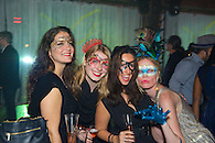 Guests in costume at the Veuve Clicquot Yelloween party in New York.