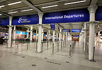 A week into the second Nationwide Lockdown in England - aka Lockdown 2.0 - streets in some usually busy tourist and hospitality areas are virtually deserted. Some underground stations usually teeming with travellers at all times of day look empty. Eurostar terminal at London St Pancras International is as empty as it was back at the peak of the Covid-19 lockdown in the spring. Shopping areas are just closed down apart from essential shops. London, Thursday November 12th 2020<br /> <br /> Photo by Keith Mayhew