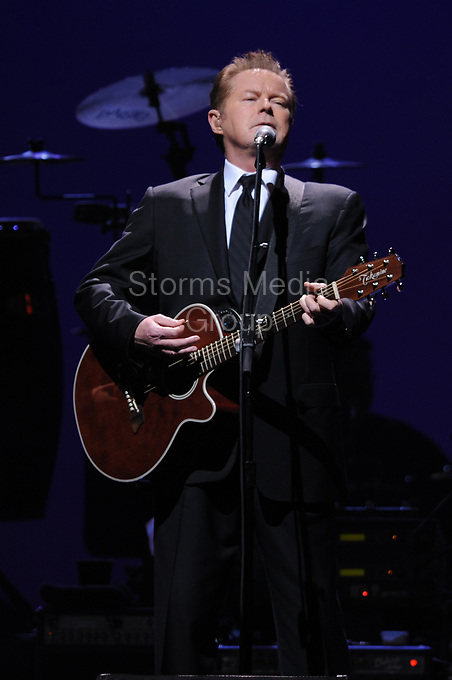 SUNRISE, FL - JANUARY 26: Don Henley of The Eagles perform live on the Long Road Out Of Eden Tour at the Bank Atlantic Center on January 26, 2009 in Sunrise Florida.<br /> <br /> <br /> People:  Don Henley