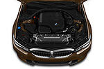 Car Stock 2019 BMW 3-Series-Sedan 330i-Sport-Line 4 Door Sedan Engine  high angle detail view