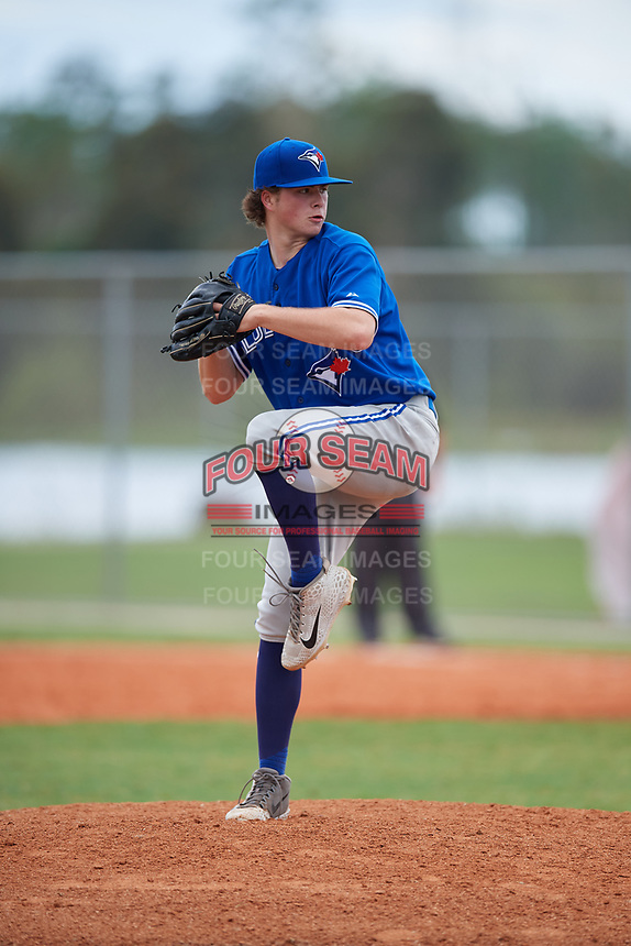 Maxx Davidson (35) during the WWBA World Championship at Lee County Player Development Complex on October 11, 2020 in Fort Myers, Florida.  Maxx Davidson, a resident of Mississauga, Ontario, Canada.  (Mike Janes/Four Seam Images)