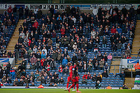 BLACKBURN, ENGLAND - JANUARY 24:   Swansea City Fans during the FA Cup Fourth Round match between Blackburn Rovers and Swansea City at Ewood park on January 24, 2015 in Blackburn, England.  (Photo by Athena Pictures/Getty Images)