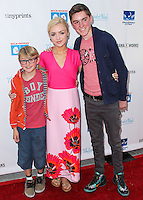 LOS ANGELES, CA, USA - APRIL 27: Phoenix List, Peyton List, Spencer List at the Milk + Bookies 5th Annual Story Time Celebration held at the Skirball Cultural Center on April 27, 2014 in Los Angeles, California, United States. (Photo by Xavier Collin/Celebrity Monitor)