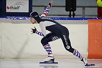 SCHAATSEN: HEERENVEEN: 10-10-2020, KNSB Trainingswedstrijd, Mike van Essen, ©foto Martin de Jong