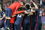Atletico de Madrid's players celebrate the victory in the Champions League 2015/2016 Quarter-Finals. April 13,2016. (ALTERPHOTOS/Acero)