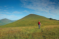 A walker on Beinn Dubh, the Luss Hills, Loch Lomond & the Trossachs National Park, Argyll & Bute<br /> <br /> Copyright www.scottishhorizons.co.uk/Keith Fergus 2011 All Rights Reserved