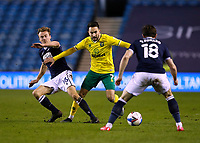 2nd February 2021; The Den, Bermondsey, London, England; English Championship Football, Millwall Football Club versus Norwich City; Lukas Rupp of Norwich City is challenged by Maikel Kieftenbeld of Millwall