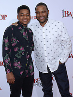 Anthony Anderson + son @ the premiere of 'Barber Shop The Next Cut' held @ the Chinese theatre.<br /> April 6, 2016