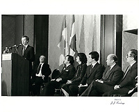 Joe Clark, le  17 decembre 1979<br /> <br /> PHOTO :  John Raudsepp - Agence Quebec presse