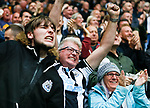 Newcastle fans celebrate the fifth minute goal scored by Callum Wilson. Newcastle v West Ham, August 15th 2021. The first game of the season, and the first time fans were allowed into St James Park since the Coronavirus pandemic. 50,673 people watched West Ham come from behind twice to secure a 2-4 win.