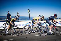 yellow jersey / GC leader Adam Yates (GBR/Mitchelton-Scott) finishing up Mont Aigoual<br /> <br /> Stage 6 from Le Teil to Mont Aigoual (191km)<br /> <br /> 107th Tour de France 2020 (2.UWT)<br /> (the 'postponed edition' held in september)<br /> <br /> ©kramon